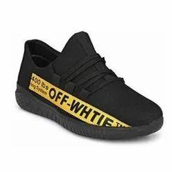 Ampher Black Mens Mesh Sport Shoes, Size: 6 - 10