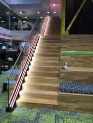 UPVC Anodized LED Glass Railings