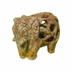 Handmade Soapstone Elephant Figurine