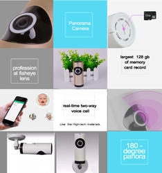Panoramic Lens Wifi CCTV Camera