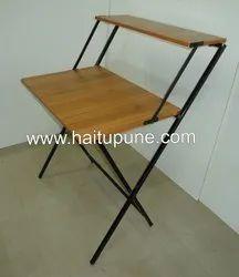 Folding Table With Shelf