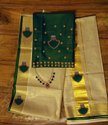 Party Wear Embroidery Palaka Design Saree, With Blouse Piece, 6.25(with Blouse)