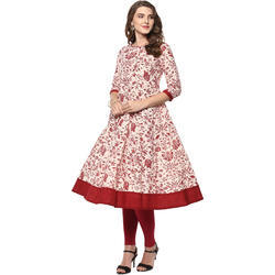 Printed Cotton Anarkali Kurti