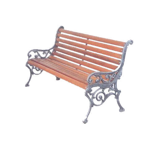 Wooden And Cast Iron Brown Miller Garden Bench