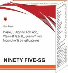 Inositol L-Arginine Folic Acid Vitamin B 12 and B6 Selenium with Micronutrients Softgel Capsules