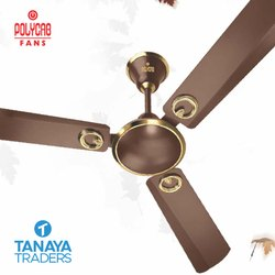 Golden And Brown Polycab Electrical Ceiling Fan, Warranty: 1 Year, Voltage: 220-240 V