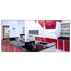 Red And White Stainless Steel Standing Height Base Cabinet