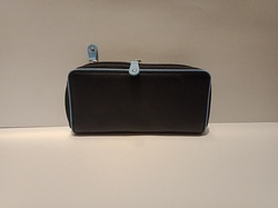 Mon Exports Women''s Black And Blue Leather Purse