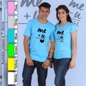 Couple Blue Custom T Shirt