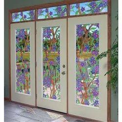 Floral Printed Door Glass