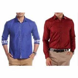 Swiss Club Full Sleeve Mens Plain Cotton Formal Shirt