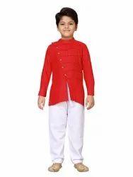 AJ Dezines Party Wear Boys Kurta Pyjamas Set for Kid, Age: 4 To 10 Years