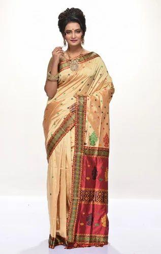 Beige, Red Assam Silk Saree ADI21385, Rs 8413.44 /piece Adi Mohini Mohan  Kanjilal Marketing Pvt. Ltd.   ID: 17236927133
