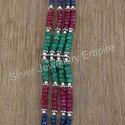Silver Jewelry Ruby,Emerald,Sapphire Gemstone Bracelet
