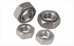 Metallic Grey M6 Mild Steel Hex Nut
