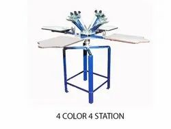 4 Color 4 Station T Shirt Screen Printing Machines