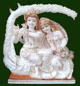 Marble Radha Krishna Jugal Jodi Statue