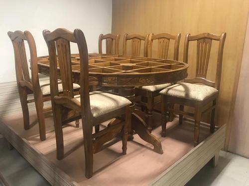 Strange 6 Seater Burma Teak Wood Dining Table Set Inzonedesignstudio Interior Chair Design Inzonedesignstudiocom