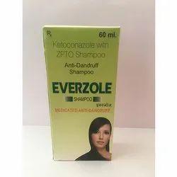 Everzole Dandruff Ketoconazole With ZPTO Shampoo, Packaging Size: 60 Ml, Packaging Type: Box
