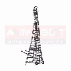 Rubber Wheel Tower Ladder