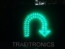 LED U Tern Arrow Green