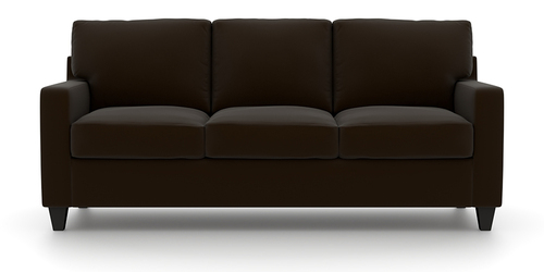 Evan 3 Seater Sofa In Chocolate Color