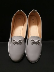 PVC Gray Casual Loafer Shoes, Size: 3 to 8