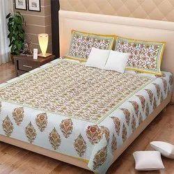Block Printed Double Bedsheet
