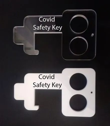 Milky white and Acrylic Safety Key