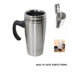 Stainless Steel Insulated Travel Mug with Sipper Lid -MUG-19