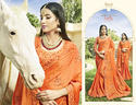 Orange Designer Fancy Party Wear Sarees