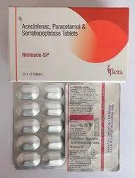 Aceclofenac Paracetamol Serratiopeptidase 15mg