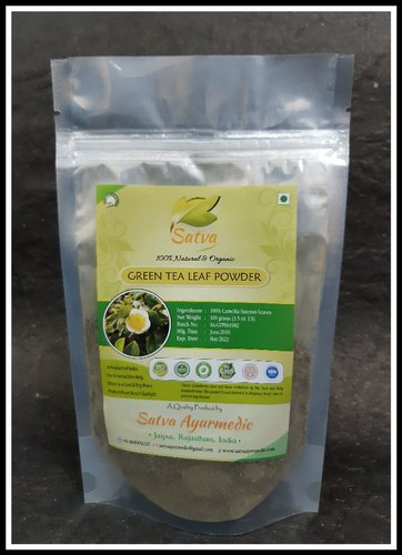 Satva 100% Green Tea Leaf Powder, Packaging Size: 100 Grams, Packaging Type: Packet