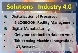 Industry 4.0 solutions, Network Speed: >4 Mbps, Wireless LAN