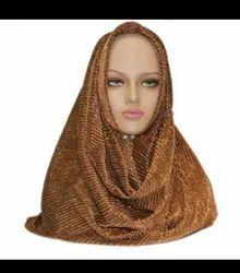 Sparkling Women Koriyai Hijab, Size: Free Size