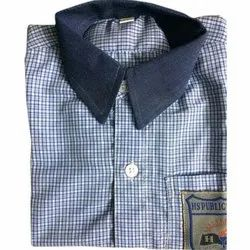 Cotton Checkered School Shirt, Packaging Type: Packet
