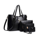 Multicolor Leather Tote Travel Bag