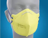 Cotton Yellow Nose Mask Venus V44+ For Pharma Industry