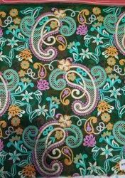 Designer Paisley Embroidered Fabric