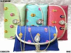 Raw Silk Clutch Bags