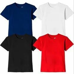 Round Half Sleeve Plain Casual Wear Men Cotton T-Shirt