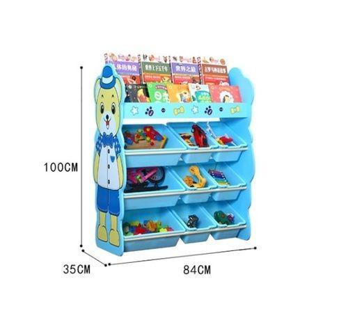 Toy Storage Bins Kids Cabinet Plastic Basket Organizer For Play School 3 Shelf