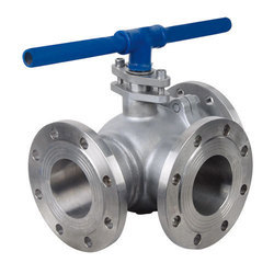 SS 316 Three Way Plug Valve Flanged