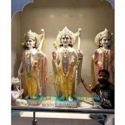 Makrana Marble Ram Darbar Moorti