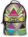 Geomet Multicolor Jacquard Backpack