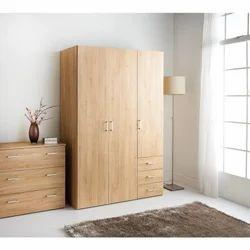 Light Brown Wooden Wardrobe