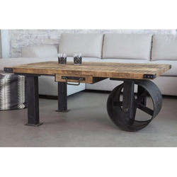 Cart Single Wheel Coffee Table