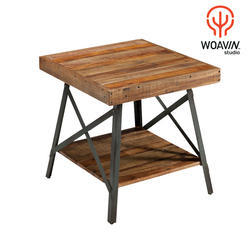 Woavin Industrial, Commercial, Vintage X Side End Cafeteria Wooden Table