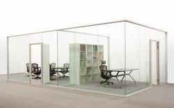 Transparent Frameless Glass Office Partition