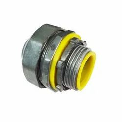 Zinc Die Cast Insulated Liquid Tight Straight Connector, For Industrial